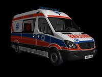 ambulans car architectural 3D model
