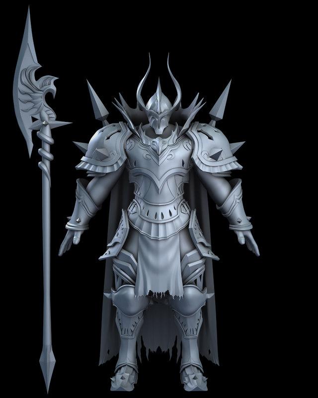 3D model knight boss