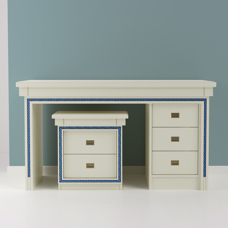 3D ivory classic table