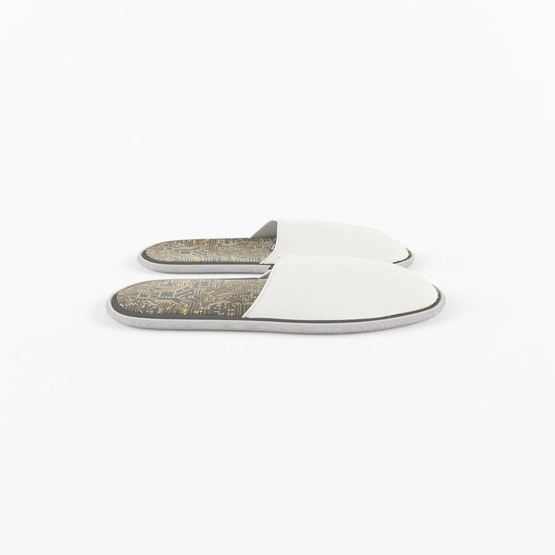 bath shoes 3D model