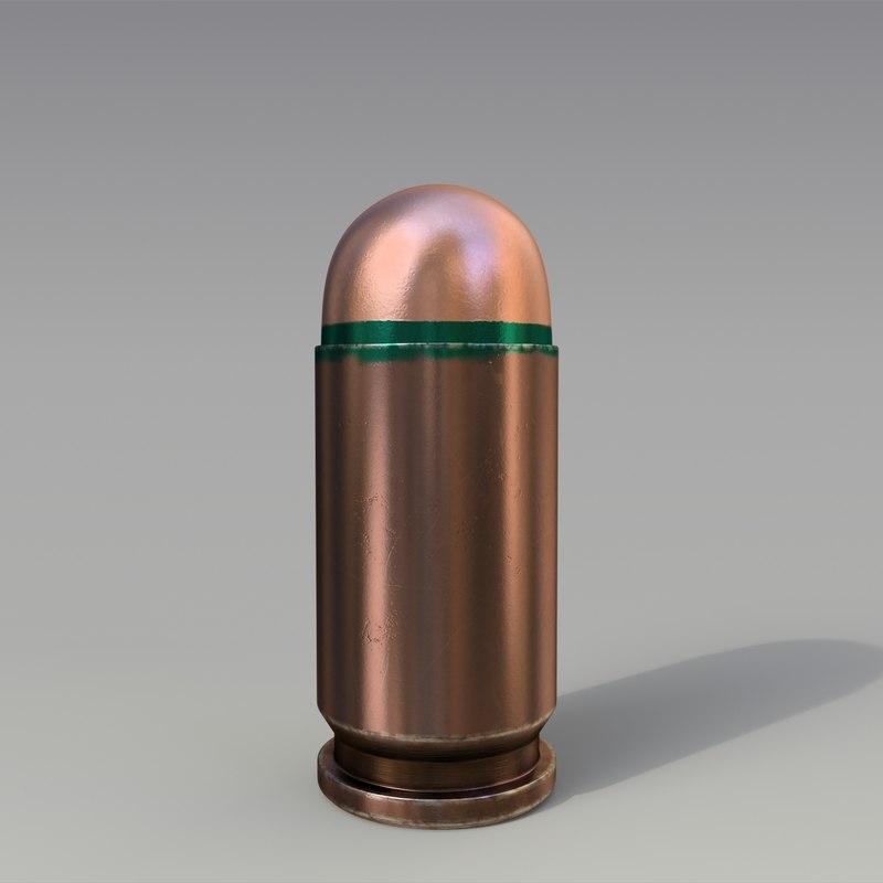 3D 9x18mm cartridge tracer model