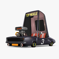 cartoon muscle car model