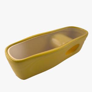 yellow organic table 3D