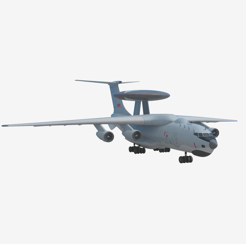 3D chinese awacs kj-2000 model