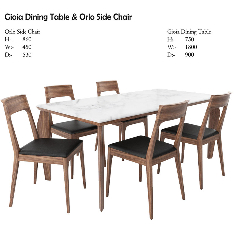 3D gioia dining table orlo