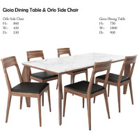 Gioia Dining Table and Orlo Side Chair