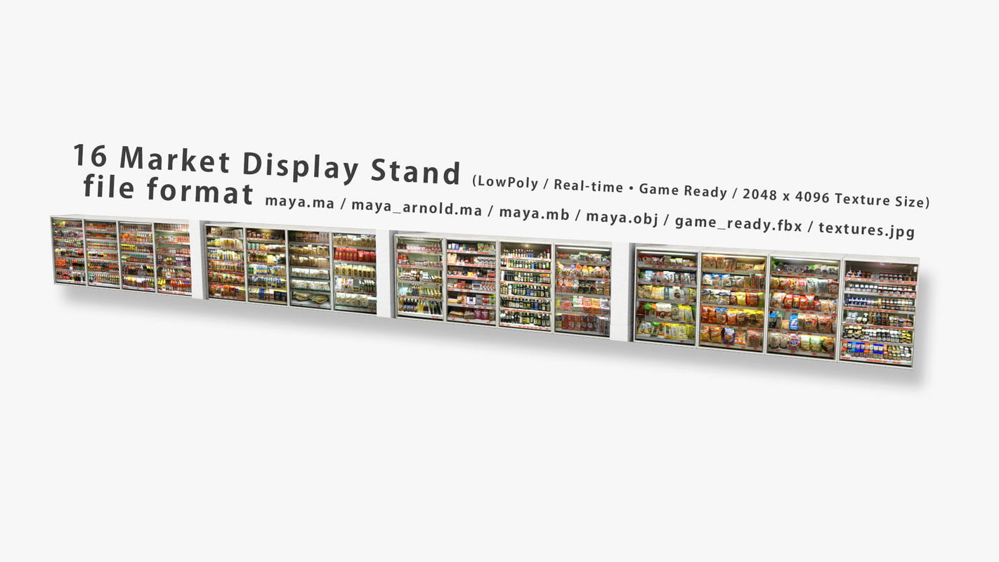 3D 16 market display stand