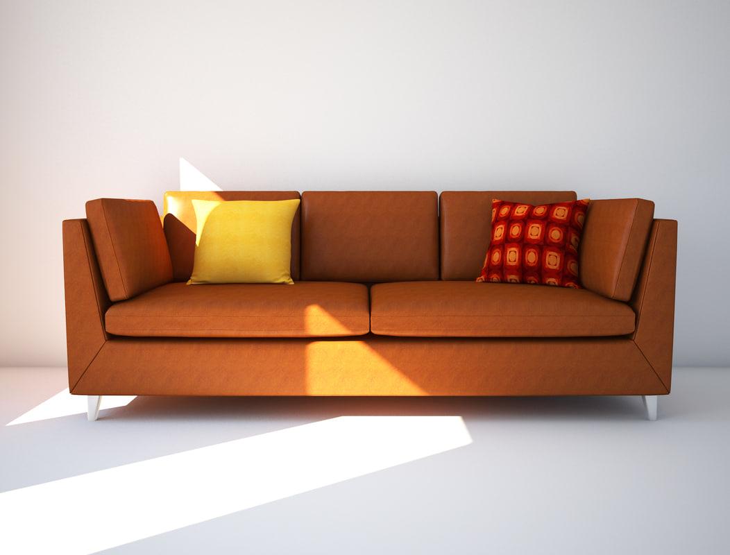 3D stockholm sofa ikea model