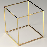 3D objects gold silver