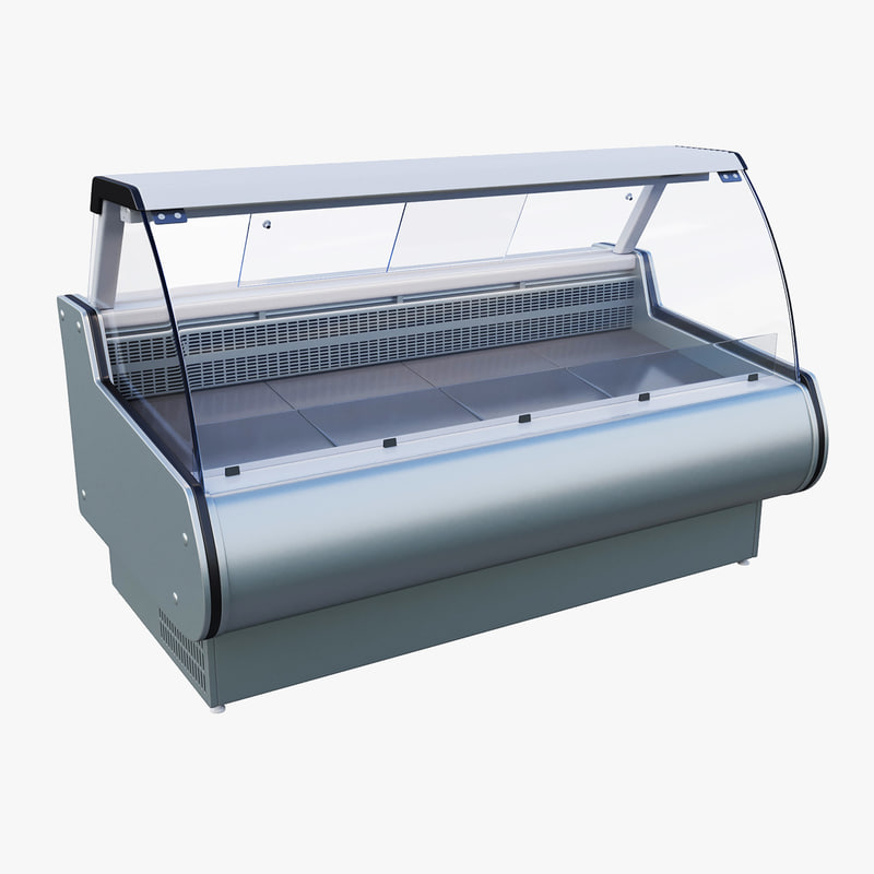 3D refrigerating showcase model