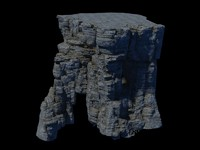 rocks mountain hill 3D