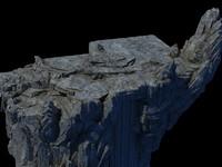 3D stone mountain mount