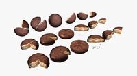 3D model choco snack