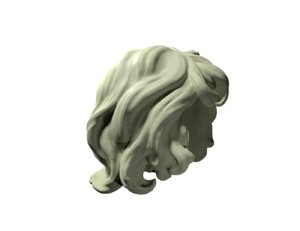 3D curly hairs