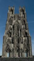 3D victorian neo-gothic facade gothic