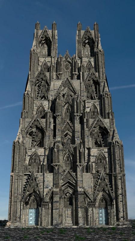3D Victorian Neo Gothic Facade