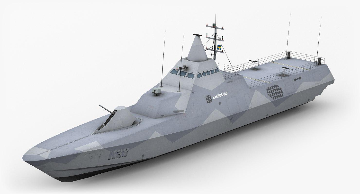 visby class corvette 3D model