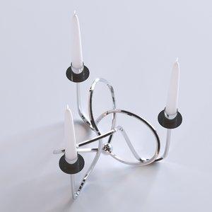 3D candle holder model