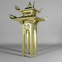 alcove chinese 3D