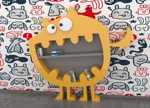 3D model viadurini bookcase