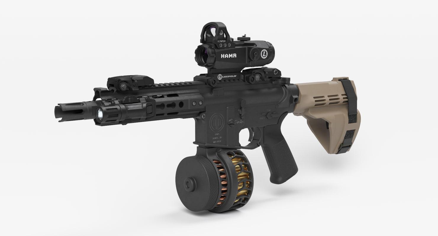 combat assault rifle 3D model