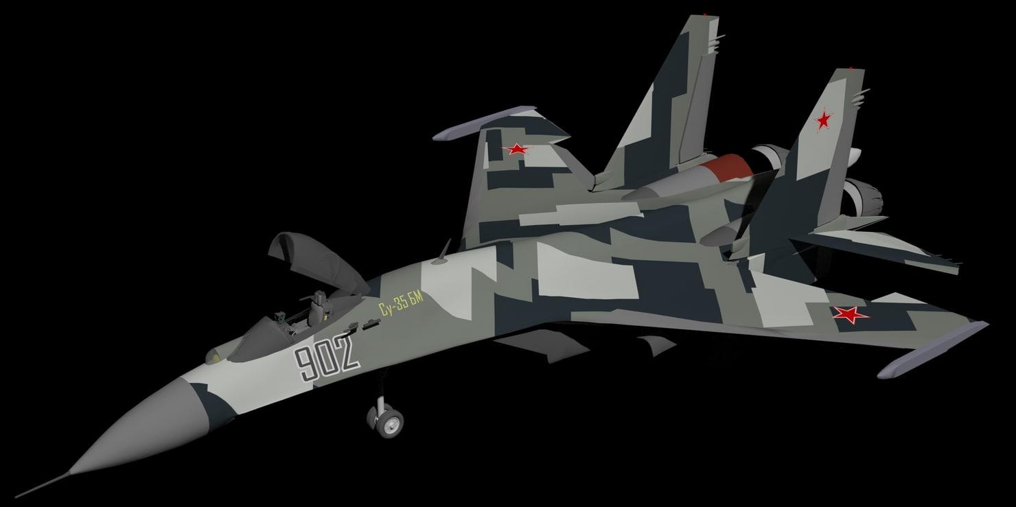 sukhoi su-35bm 3D model