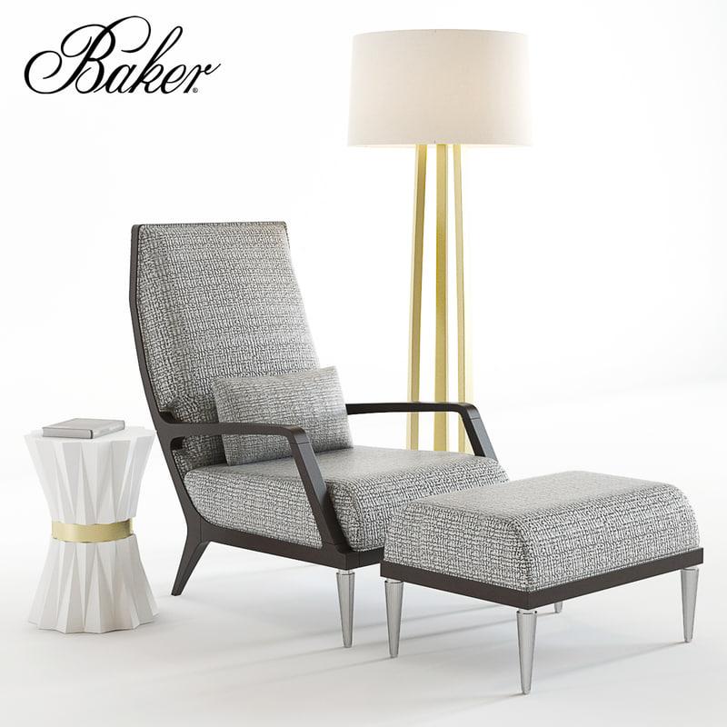 bakers jasper lounge chair 3D