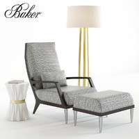 bakers jasper lounge chair 3D
