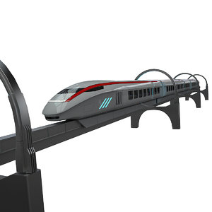 3D sci-fi train 2