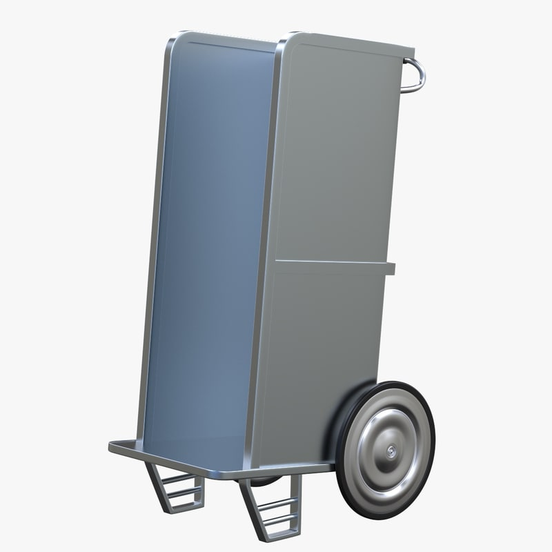 3D model newspaper carrier cart