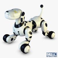 zoomer robot dog dalmatian 3D model