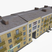 Lowpoly East Europe Building 2