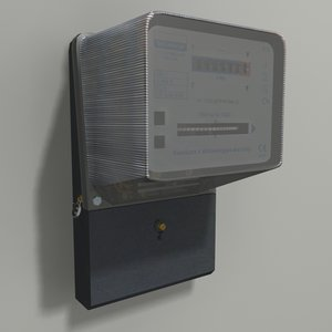 3D meter modeled model