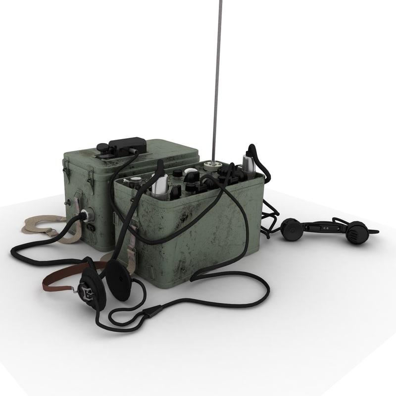 3D model radio station rbm