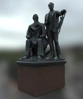 Statue Victor and Apollinariya Vasnetsov