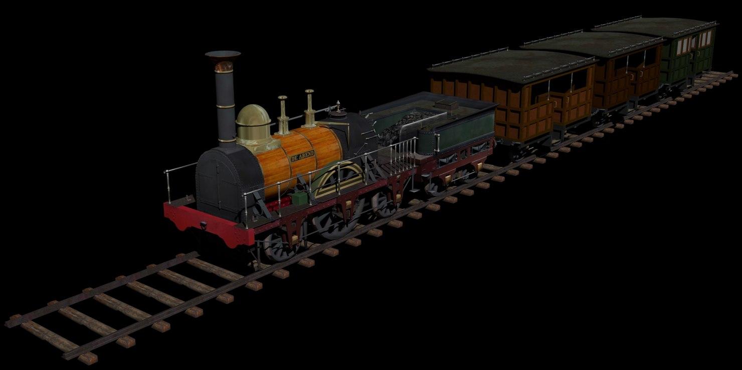train - arend dutch 3D model