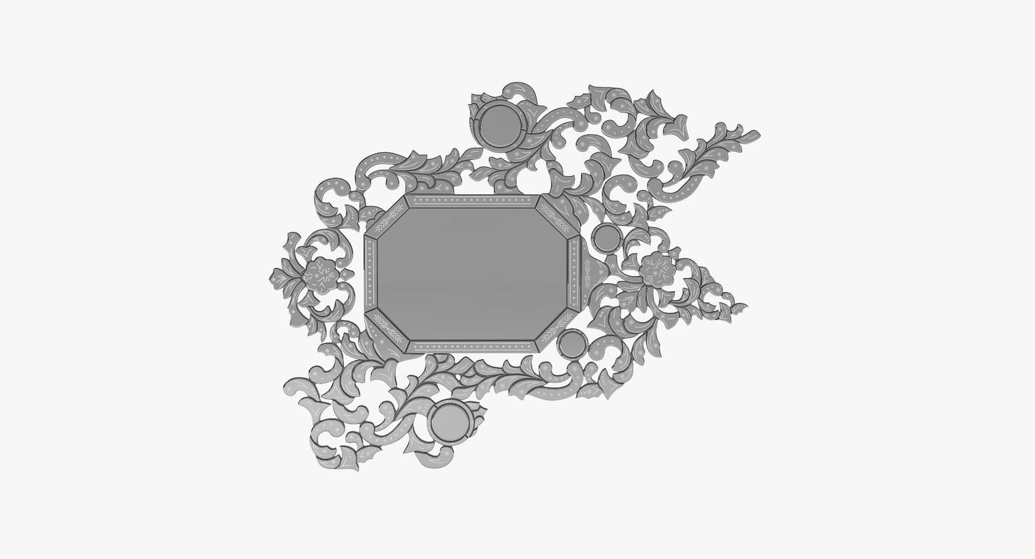 koket addicta wall mirror 3D model