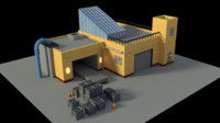 3D model industrial factory