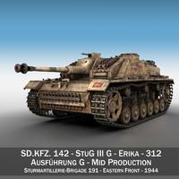 3D stug 3 - g model