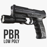 Heckler & Koch VP9 (SFP9) Low Poly