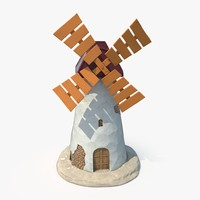 3D model garden windmill