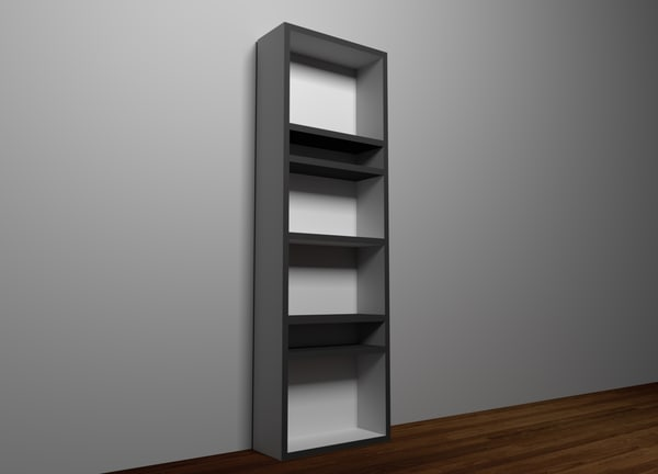 shelf white black 3D model