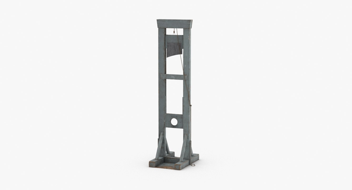3D guillotine---blade-up