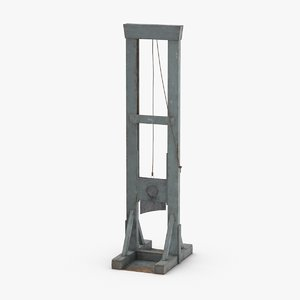 3D guillotine---blade-down model
