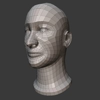 male head basemesh 3D model