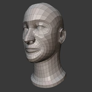 male head basemesh 3D model