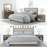 set pottery barn toulouse 3D model