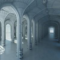 3D architectural scene interior
