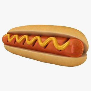 grill hot dog sauce 3D model