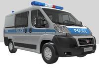 police car 3D